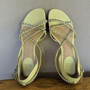 NWOT Frye yellow leather sandals sz 6.5